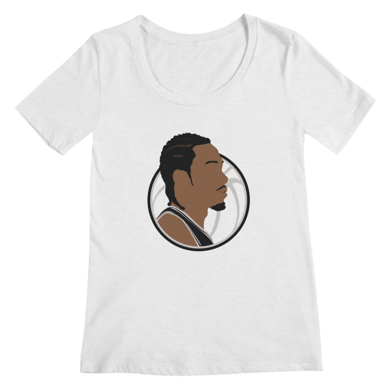 Kawhi Leonard Women's Scoop Neck by Shane Guymon