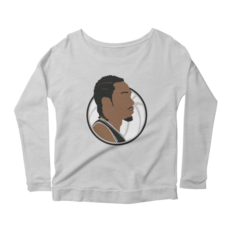 Kawhi Leonard Women's Scoop Neck Longsleeve T-Shirt by Shane Guymon