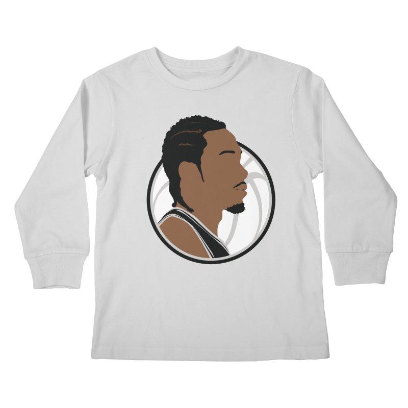Kawhi Leonard Kids Longsleeve T-Shirt by Shane Guymon