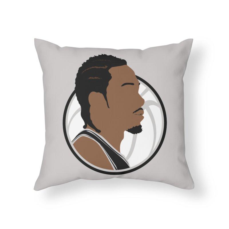 Kawhi Leonard Home Throw Pillow by Shane Guymon