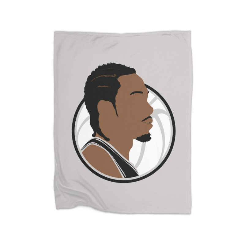 Kawhi Leonard Home Fleece Blanket Blanket by Shane Guymon
