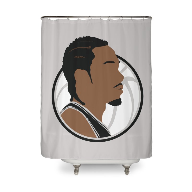 Kawhi Leonard Home Shower Curtain by Shane Guymon