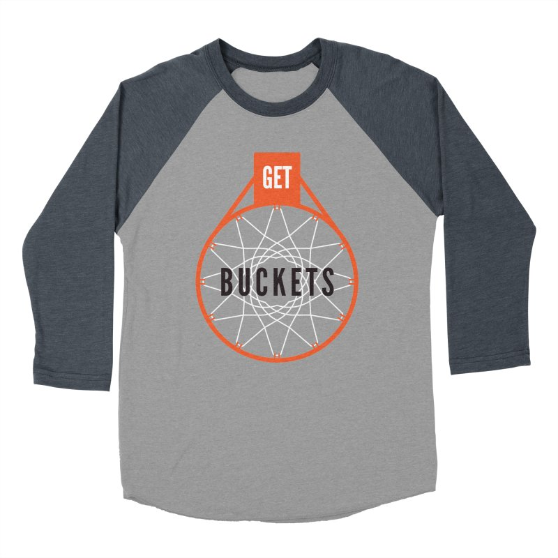 Get Buckets Men's Baseball Triblend Longsleeve T-Shirt by Shane Guymon