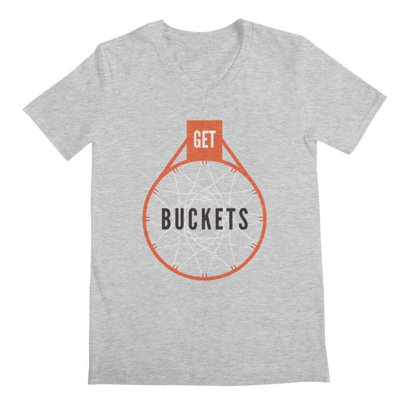 Get Buckets Men's V-Neck by Shane Guymon Shirt Shop