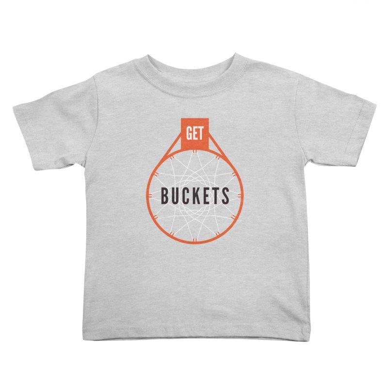 Get Buckets Kids Toddler T-Shirt by Shane Guymon