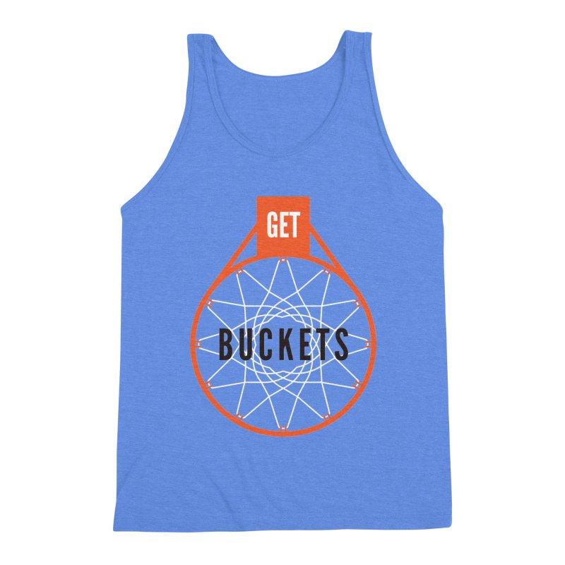 Get Buckets Men's Triblend Tank by Shane Guymon
