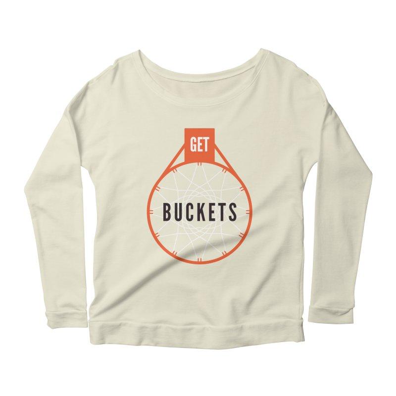 Get Buckets Women's Scoop Neck Longsleeve T-Shirt by Shane Guymon