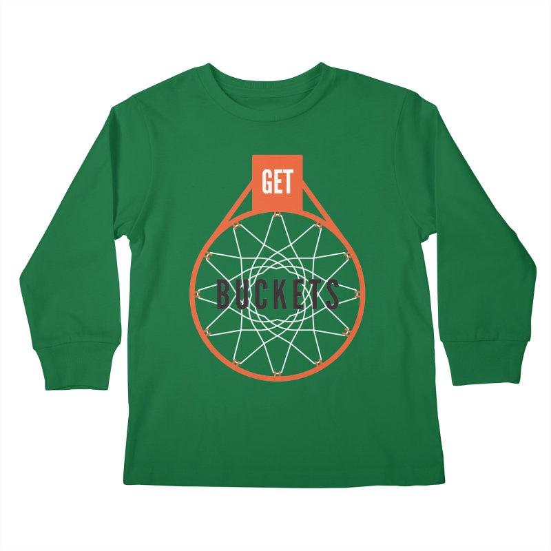Get Buckets Kids Longsleeve T-Shirt by Shane Guymon