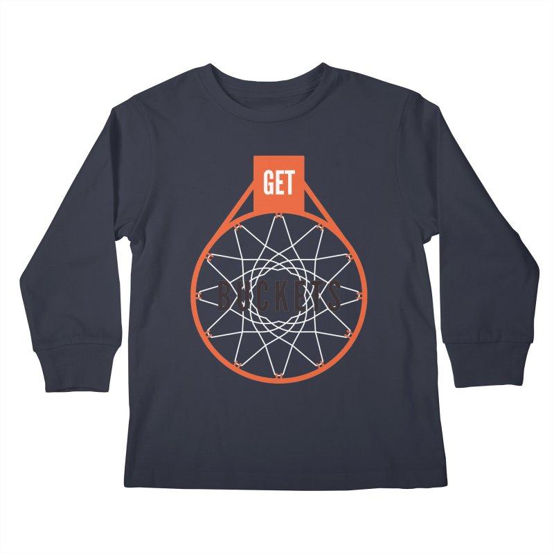 Get Buckets Kids Longsleeve T-Shirt by Shane Guymon Shirt Shop