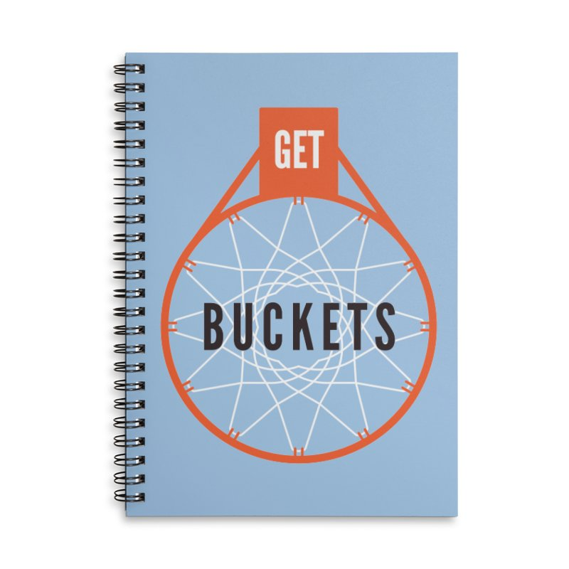 Get Buckets Accessories Lined Spiral Notebook by Shane Guymon