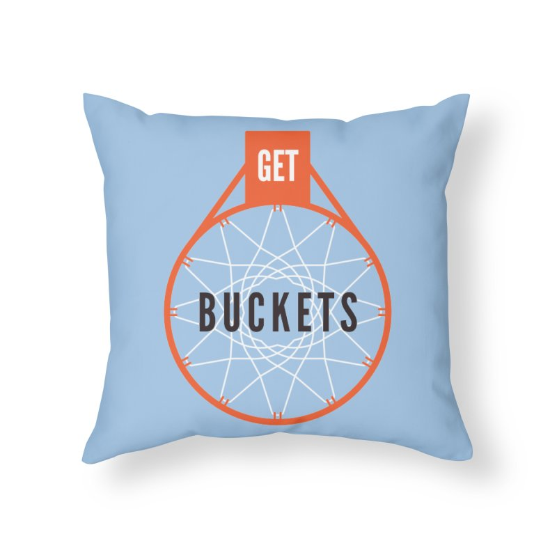 Get Buckets Home Throw Pillow by Shane Guymon