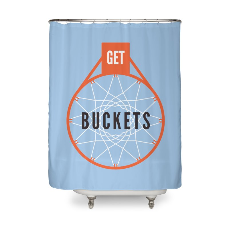 Get Buckets Home Shower Curtain by Shane Guymon