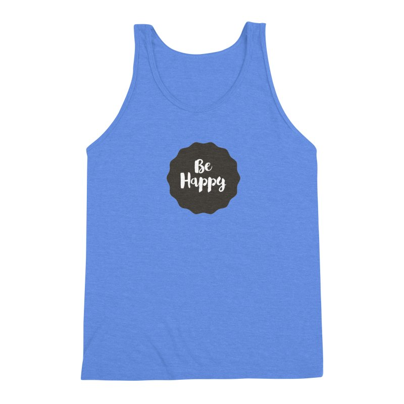 Be Happy Men's Triblend Tank by Shane Guymon