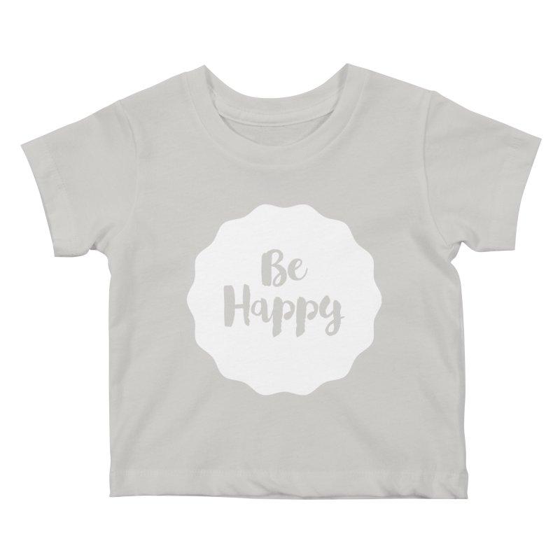Be Happy (white) Kids Baby T-Shirt by Shane Guymon