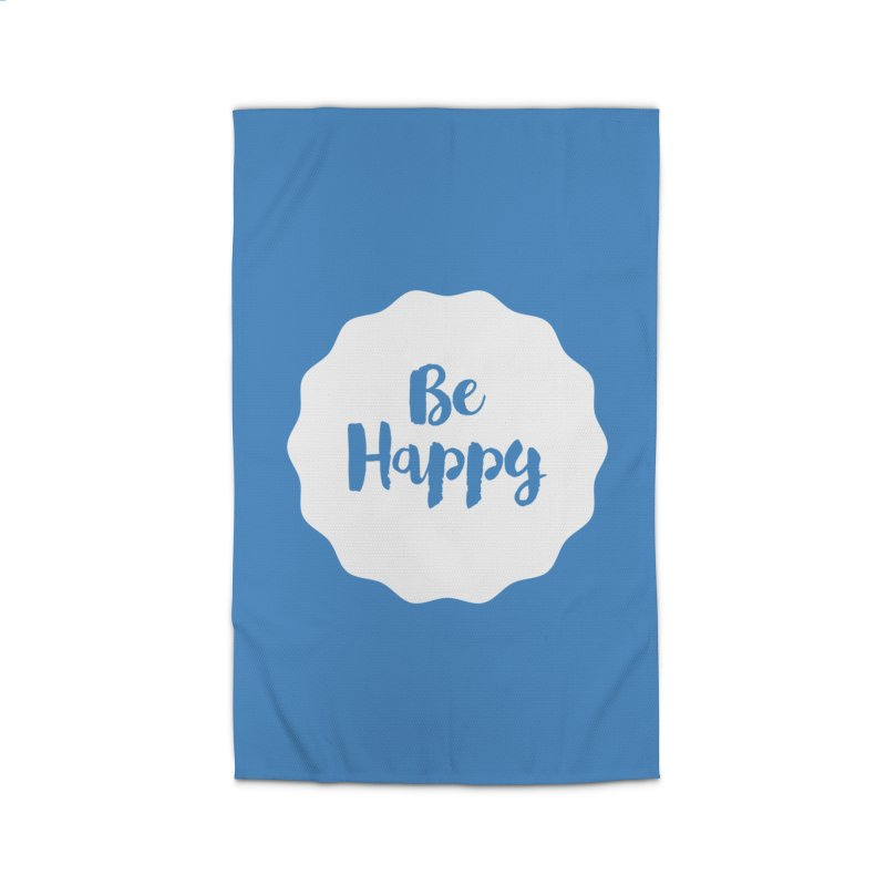 Be Happy (white) Home Rug by Shane Guymon