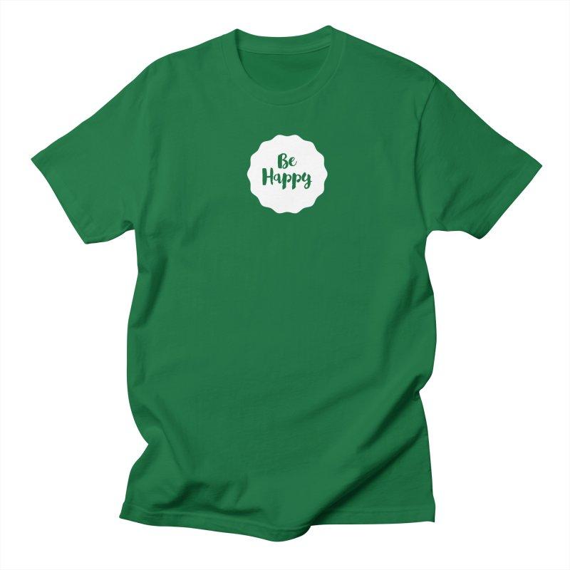Be Happy (white) Men's Regular T-Shirt by Shane Guymon