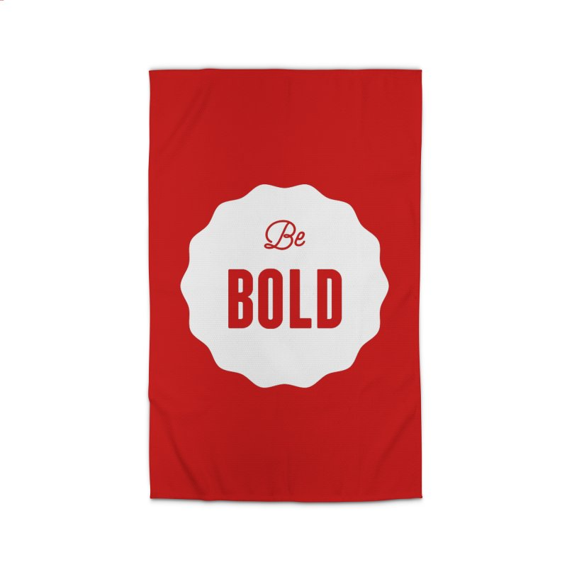 Be Bold (white) Home Rug by Shane Guymon
