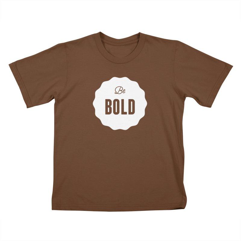 Be Bold (white) Kids T-shirt by Shane Guymon