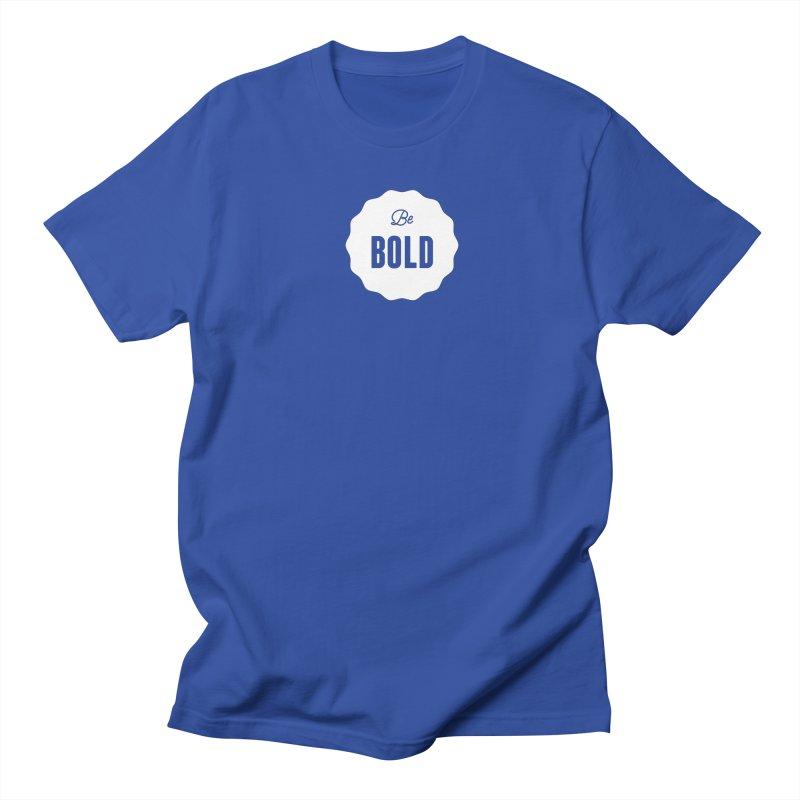 Be Bold (white) Men's Regular T-Shirt by Shane Guymon