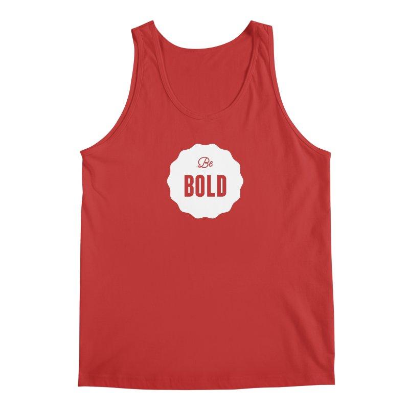 Be Bold (white) Men's Regular Tank by Shane Guymon