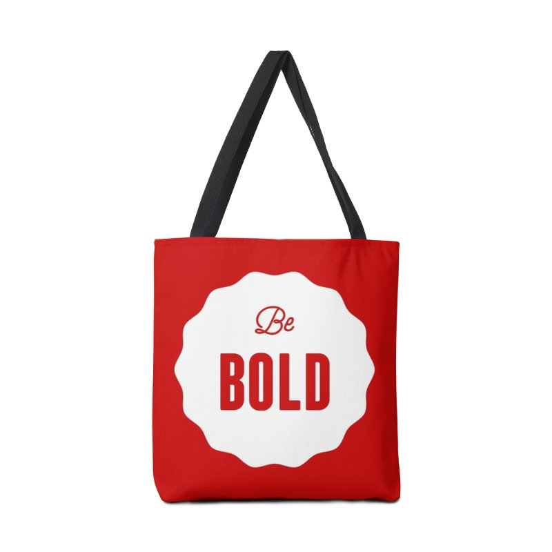 Be Bold (white) Accessories Bag by Shane Guymon