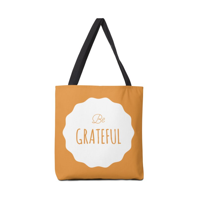 Be Grateful - White Accessories Bag by Shane Guymon