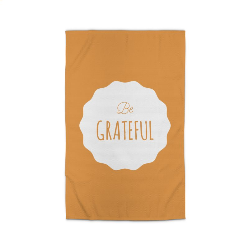 Be Grateful - White Home Rug by Shane Guymon
