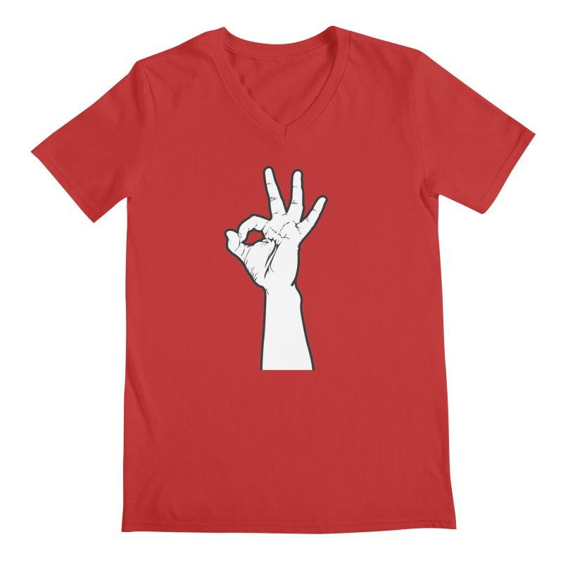 Three! Men's V-Neck by Shane Guymon Shirt Shop