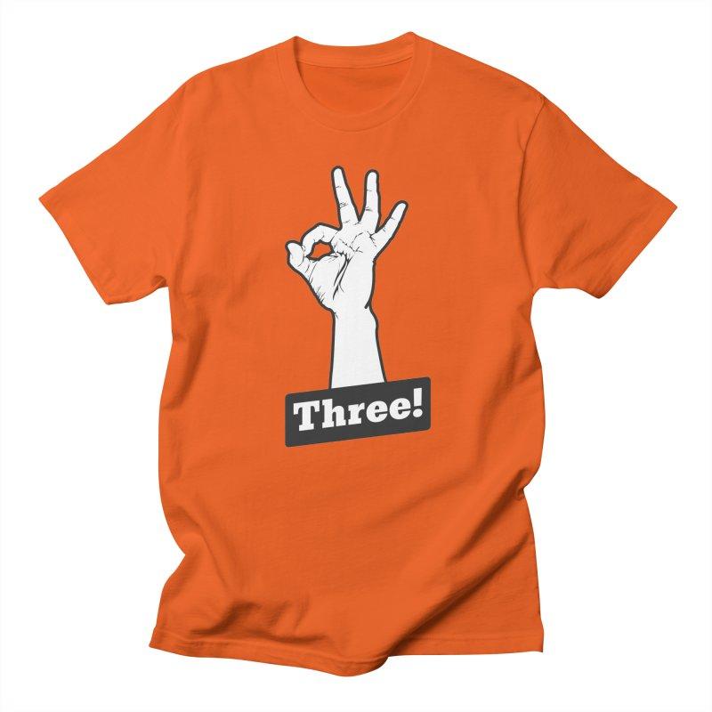 Three! Men's T-Shirt by Shane Guymon Shirt Shop