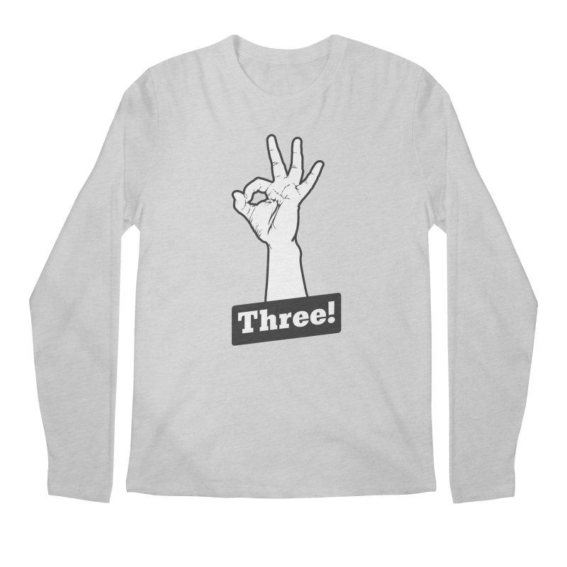 Three! Men's Longsleeve T-Shirt by Shane Guymon Shirt Shop