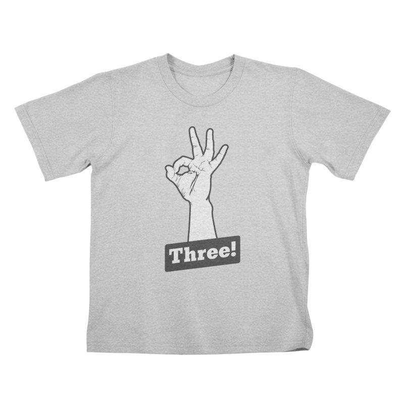 Three! Kids T-Shirt by Shane Guymon Shirt Shop