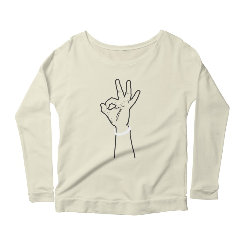 Three! Women's Scoop Neck Longsleeve T-Shirt by Shane Guymon