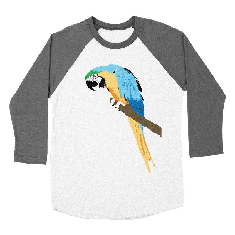 Parrot Men's Baseball Triblend Longsleeve T-Shirt by Shane Guymon