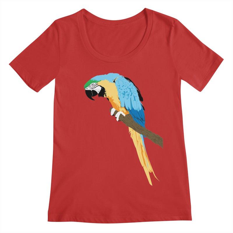Parrot Women's Regular Scoop Neck by Shane Guymon