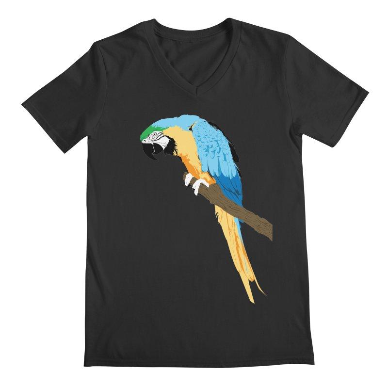 Parrot Men's Regular V-Neck by Shane Guymon