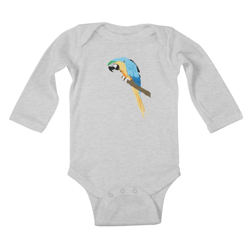Parrot Kids Baby Longsleeve Bodysuit by Shane Guymon