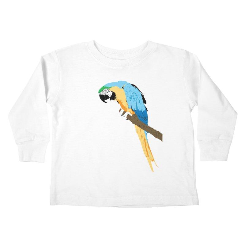 Parrot Kids Toddler Longsleeve T-Shirt by Shane Guymon