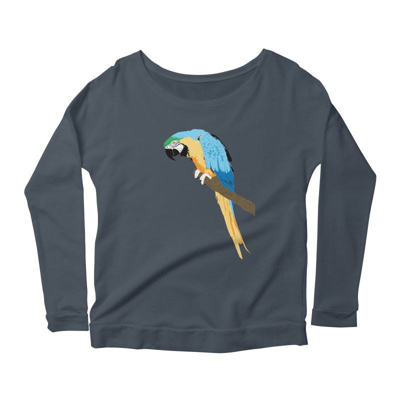 Parrot Women's Scoop Neck Longsleeve T-Shirt by Shane Guymon