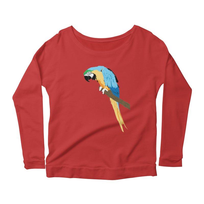 Parrot Women's Longsleeve Scoopneck  by Shane Guymon