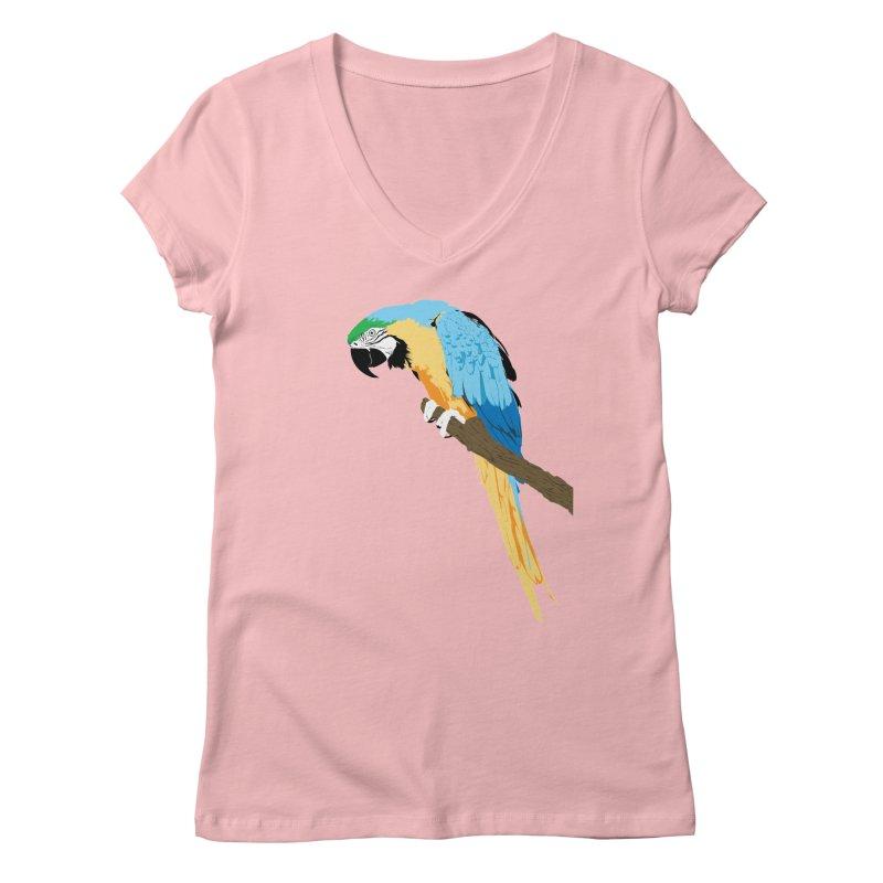 Parrot Women's Regular V-Neck by Shane Guymon