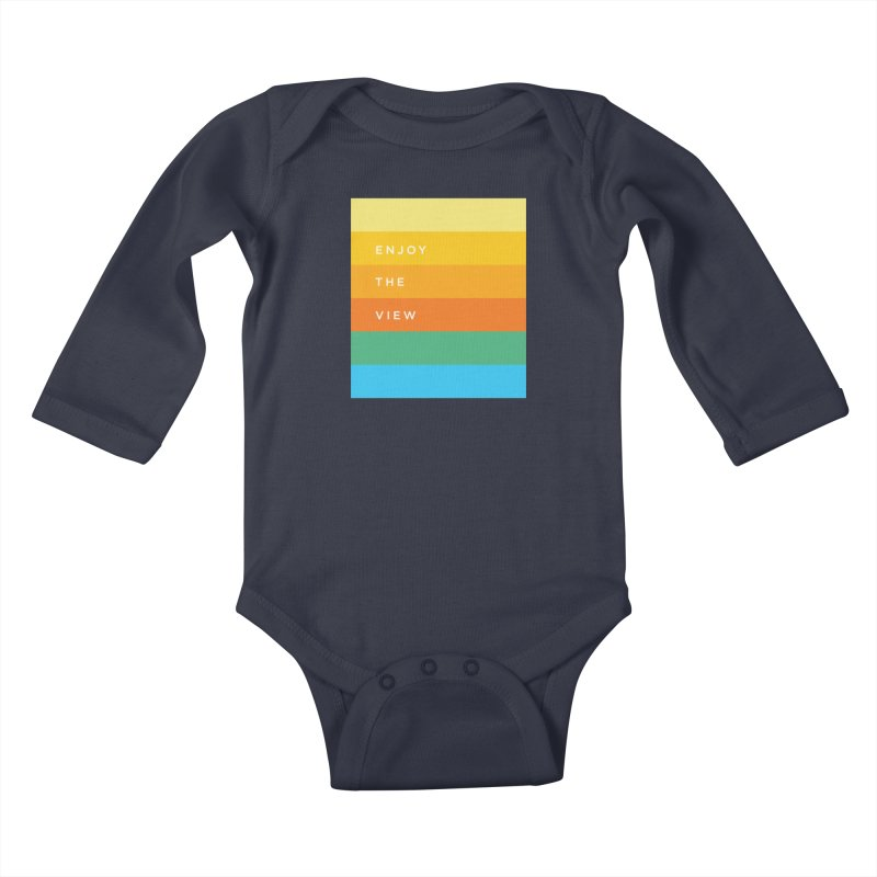 Enjoy the view Kids Baby Longsleeve Bodysuit by Shane Guymon Shirt Shop