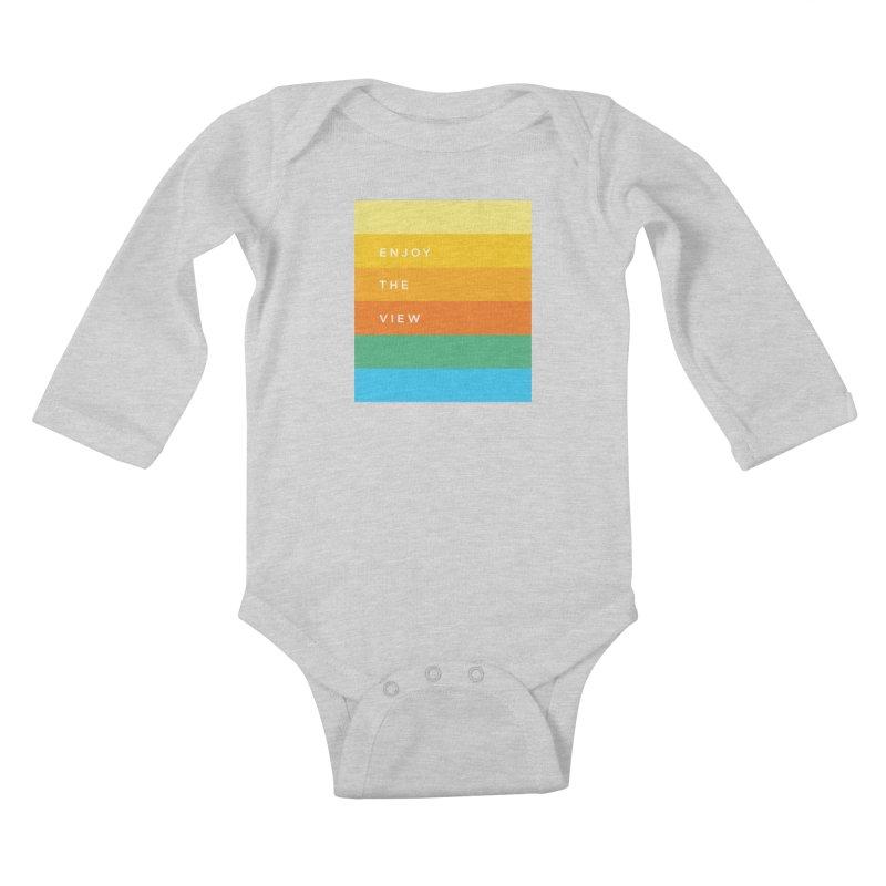 Enjoy the view Kids Baby Longsleeve Bodysuit by Shane Guymon