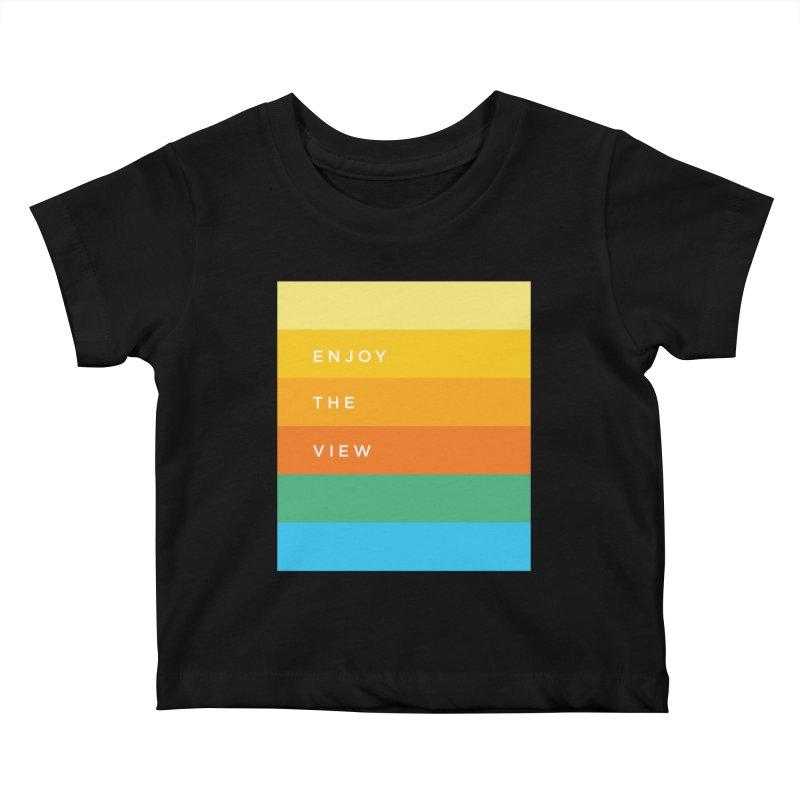 Enjoy the view Kids Baby T-Shirt by Shane Guymon Shirt Shop