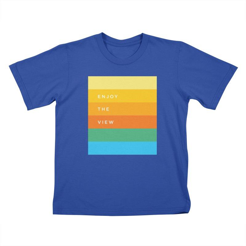 Enjoy the view Kids T-Shirt by Shane Guymon