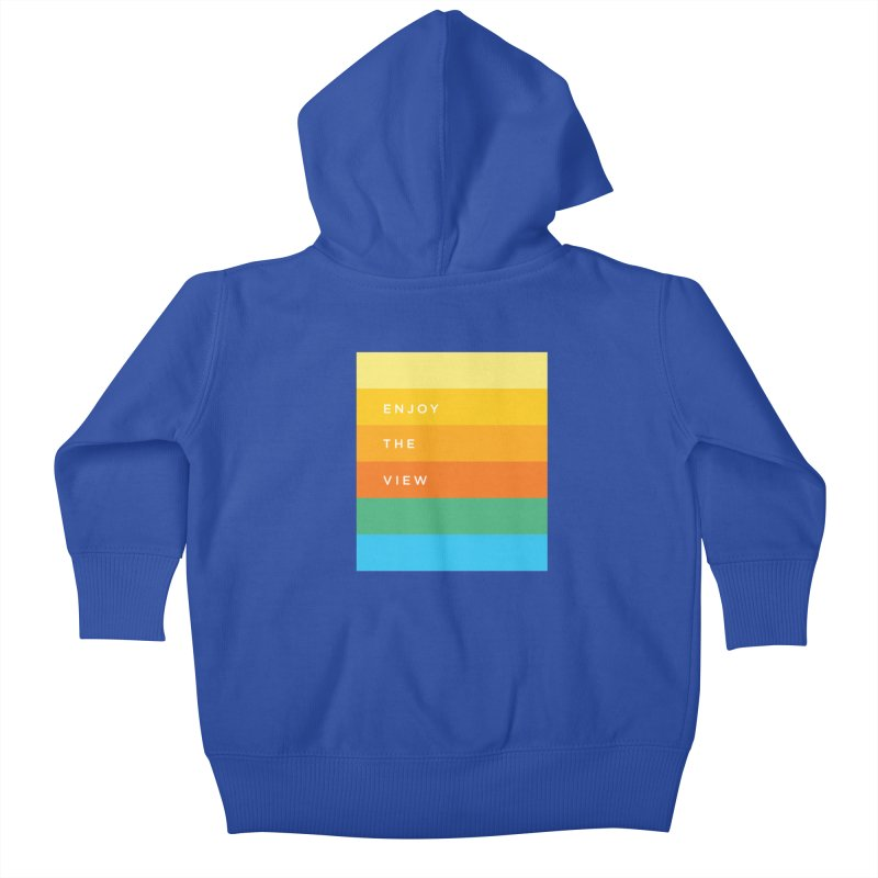 Enjoy the view Kids Baby Zip-Up Hoody by Shane Guymon