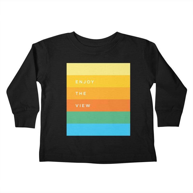 Enjoy the view Kids Toddler Longsleeve T-Shirt by Shane Guymon Shirt Shop