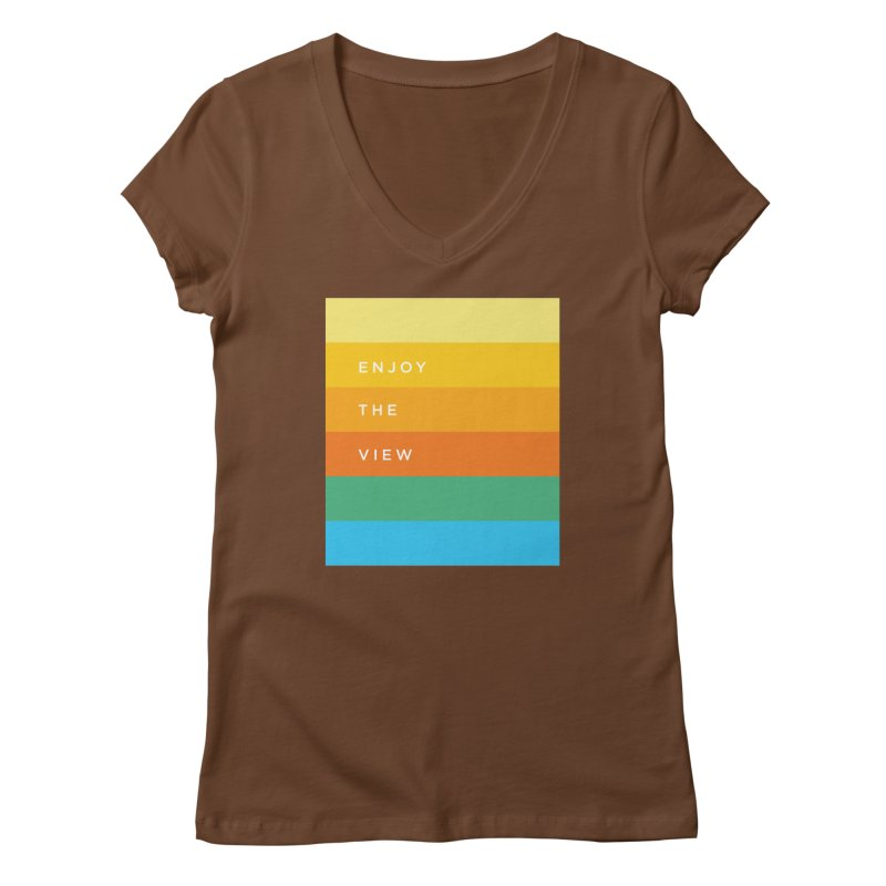 Enjoy the view Women's Regular V-Neck by Shane Guymon
