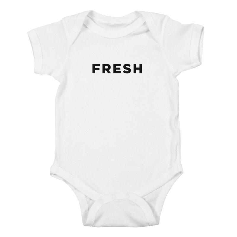 Fresh Kids Baby Bodysuit by Shane Guymon Shirt Shop