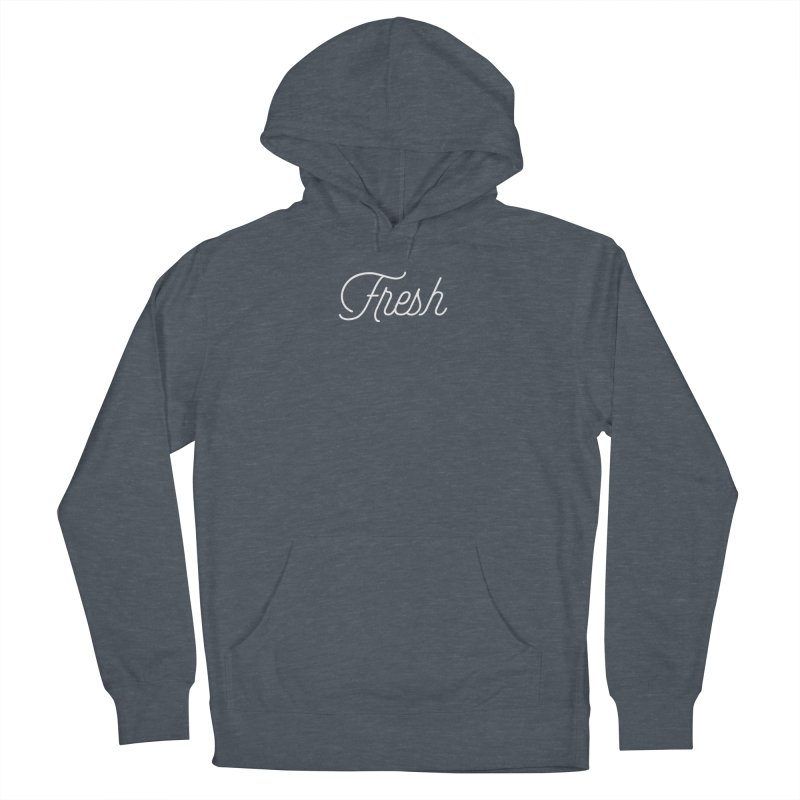 Fresh Script Women's French Terry Pullover Hoody by Shane Guymon