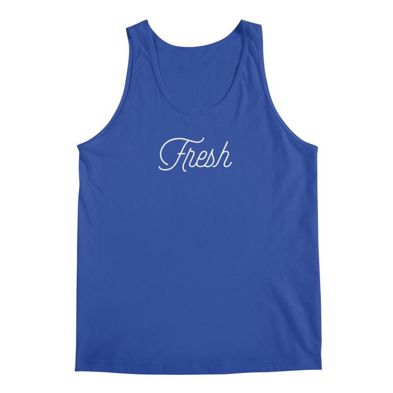 Fresh Script Men's Tank by Shane Guymon Shirt Shop